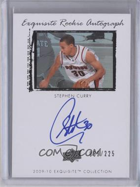 2009-10 Exquisite Collection - [Base] #64 - Stephen Curry /225