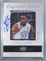 Exquisite Rookie Autograph - Wayne Ellington #/225