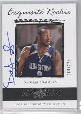 2009-10 Exquisite Collection - [Base] #70 - DaJuan Summers /225