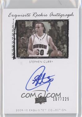 2009-10 Exquisite Collection - [Base] #72 - Stephen Curry /225