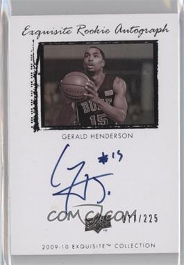 2009-10 Exquisite Collection - [Base] #77 - Gerald Henderson /225