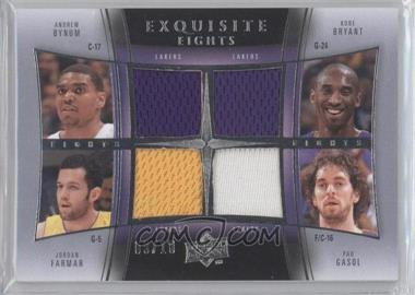 2009-10 Exquisite Collection - Exquisite Eights #BBFGWBKK - Andrew Bynum, Kobe Bryant, Jordan Farmar, Pau Gasol, Deron Williams, Kyle Korver, Andrei Kirilenko, Carlos Boozer /10