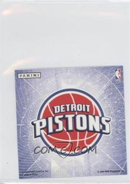 2009-10 Panini - Glow-in-the-Dark Team Logo Stickers #8 - Detroit Pistons