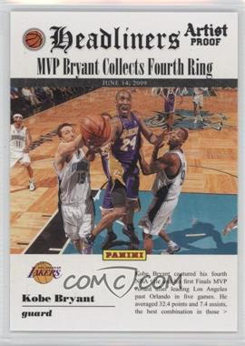 2009-10 Panini - Headliners - Artist Proof #8 - Kobe Bryant /199