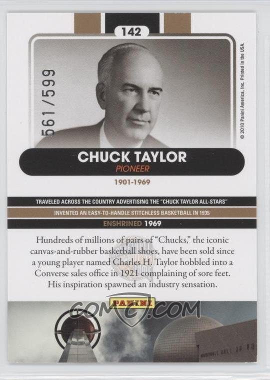 2009-10 Panini Basketball Hall of Fame -  Base   142 - Chuck Taylor ... 52e0f64eb