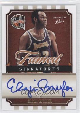 2009-10 Panini Basketball Hall of Fame - Famed Signatures #EB - Elgin Baylor /199