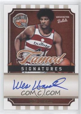 2009-10 Panini Basketball Hall of Fame - Famed Signatures #WU - Wes Unseld /492
