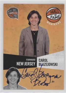 2009-10 Panini Basketball Hall of Fame - Monikers #18 - Carol Blazejowski /299