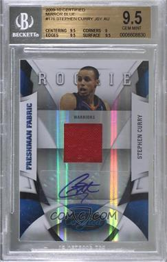 2009-10 Panini Certified - [Base] - Mirror Blue #176 - Stephen Curry /50 [BGS 9.5 GEM MINT]