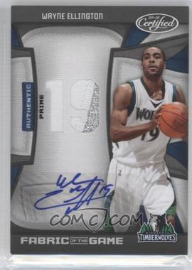 2009 10 Panini Certified Fabric Of The Game Jersey Number Die