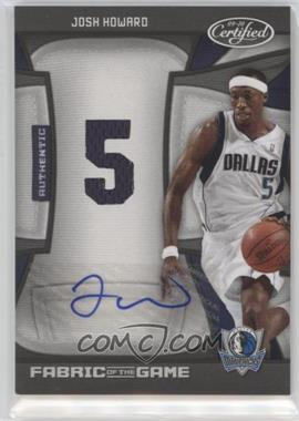 2009-10 Panini Certified - Fabric of the Game - Jersey Number Die-Cut Signatures [Autographed] #FOG-JH - Josh Howard /25