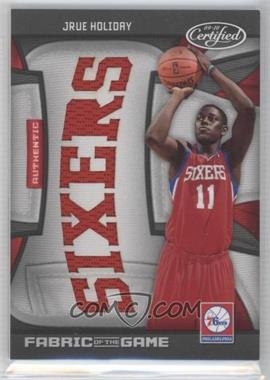 2009-10 Panini Certified - Fabric of the Game - Team Die-Cut #FOG-JH - Jrue Holiday /25