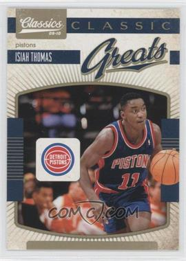 2009-10 Panini Classics - Classic Greats - Gold #12 - Isiah Thomas /100