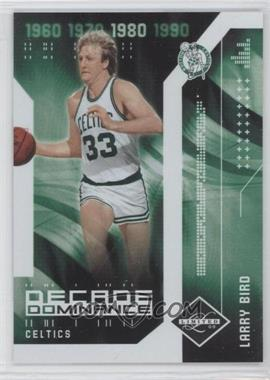 2009-10 Panini Limited - Decade Dominance #12 - Larry Bird /99