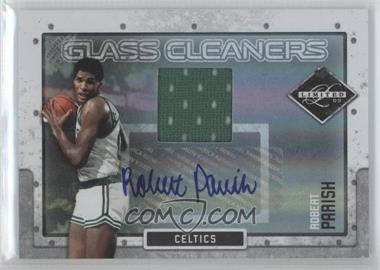 2009-10 Panini Limited - Glass Cleaners - Signature Materials [Autographed] #15 - Robert Parish /25