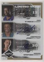 Tyreke Evans, Jonny Flynn, Stephen Curry #/49
