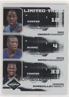 Shaquille O'Neal, Dwight Howard, Nate Robinson #/99