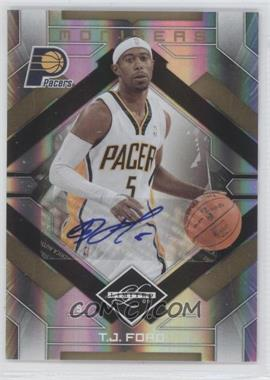 2009-10 Panini Limited - Monikers - Gold [Autographed] #30 - T.J. Ford /5