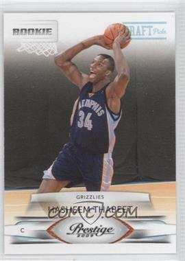 2009-10 Panini Prestige - [Base] - Draft Picks Light Blue #202 - Hasheem Thabeet /999