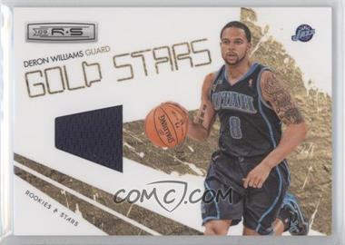 2009-10 Panini Rookies & Stars - Gold Stars - Materials [Memorabilia] #13 - Deron Williams