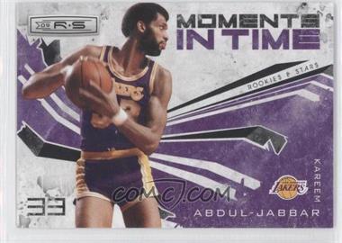 2009-10 Panini Rookies & Stars - Moments in Time - Black #12 - Kareem Abdul-Jabbar /100