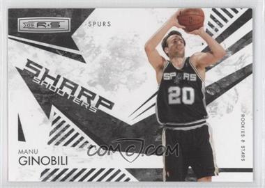 2009-10 Panini Rookies & Stars - Sharp Shooters - Black #14 - Manu Ginobili /100