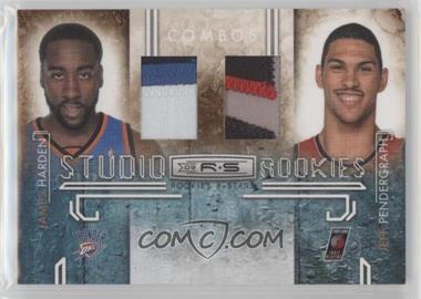 2009-10 Panini Rookies & Stars - Studio Rookies Combos - Materials Prime [Memorabilia] #7 - James Harden, Jeff Pendergraph /50