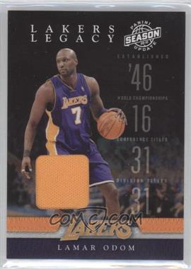 2009-10 Panini Season Update - Lakers Legacy - Materials [Memorabilia] #9 - Lamar Odom