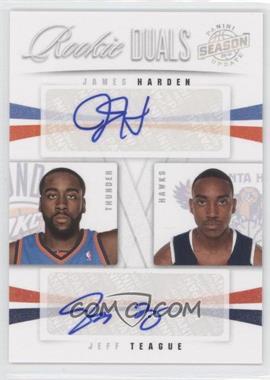 2009-10 Panini Season Update - Rookie Duals Signatures #35 - Jeff Teague, James Harden /99