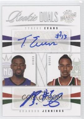 2009-10 Panini Season Update - Rookie Duals Signatures #4 - Brandon Jennings, Tyreke Evans /49