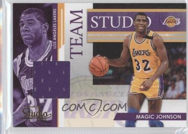 2009-10 Panini Studio - Team Studio - Materials [Memorabilia] #14 - Magic Johnson, Kareem Abdul-Jabbar /249