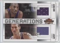 Jerry West, Kobe Bryant /100