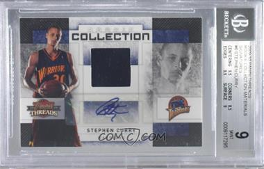 2009-10 Panini Threads - Rookie Collection Materials - Signatures [Autographed] #6 - Stephen Curry /50 [BGS9MINT]