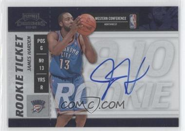 2009-10 Playoff Contenders - [Base] #103 - Rookie Ticket - James Harden