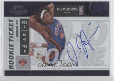 2009-10 Playoff Contenders - [Base] #107 - Rookie Ticket - Jordan Hill