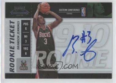 2009-10 Playoff Contenders - [Base] #108 - Rookie Ticket - Brandon Jennings
