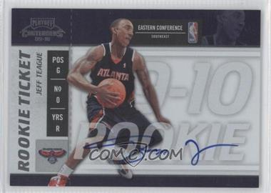 2009-10 Playoff Contenders - [Base] #117 - Rookie Ticket - Jeff Teague