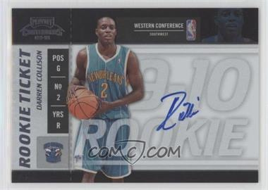 2009-10 Playoff Contenders - [Base] #119 - Rookie Ticket - Darren Collison