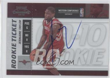 2009-10 Playoff Contenders - [Base] #128 - Rookie Ticket - Jermaine Taylor