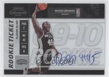 2009-10 Playoff Contenders - [Base] #132 - Rookie Ticket - DeJuan Blair