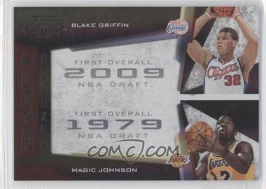2009-10 Playoff Contenders - Draft Tandems - Black #17 - Blake Griffin, Magic Johnson /50