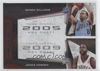 Deron Williams, James Harden #/50