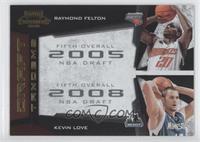 Kevin Love, Raymond Felton /100