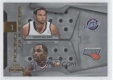 2009-10 Playoff Contenders - Round Numbers - Gold #21 - Deron Williams, Gerald Henderson /100