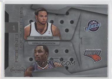 2009-10 Playoff Contenders - Round Numbers #21 - Gerald Henderson, Deron Williams
