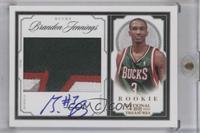Rookie Patch Autographs - Brandon Jennings #/25