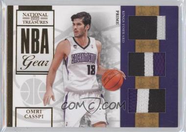 2009-10 Playoff National Treasures - NBA Gear - Trios Prime #19 - Omri Casspi /10