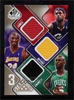 Lebron James, Kobe Bryant, Kevin Garnett #/125