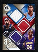 Kevin Durant, Lebron James, Kobe Bryant [Noted] #/125