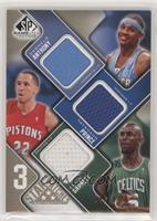 Carmelo Anthony, Tayshaun Prince, Kevin Garnett #/125